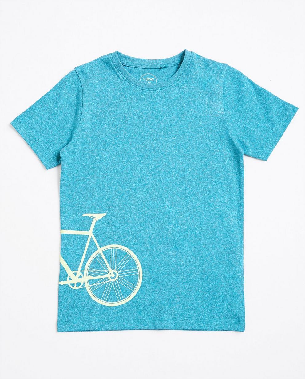 Grijs gespikkeld T-shirt met print FR - null - JBC
